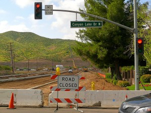 In April 2011, Goetz Rd. was closed for construction of the new bridge over Salt Creek.