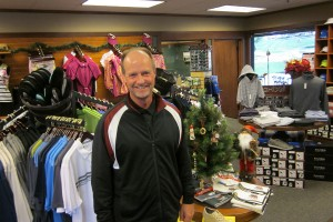 "Pat is praised for having a pro shop that ""is well stocked with a variety of clothing, hats, shoes, balls, clubs, etc., and is always clean and the merchandise well displayed."" Photo by Sharon Rice."