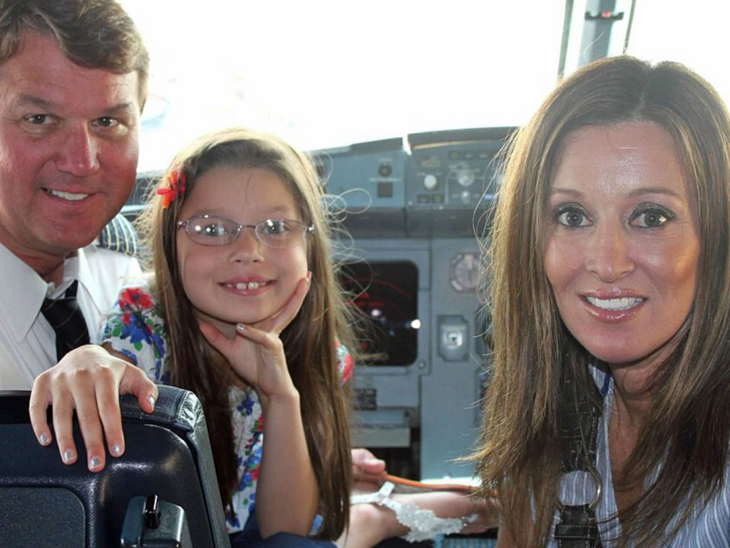Charles Manning is pictured with his wife and daughter, Jessica and Sydney, in the cockpit of a plane after landing in Houston this past Wednesday. He didn't say why they were there, but news stories coming out of Houston this week were filled with reports of flooding. Photo provided by Charles Manning.