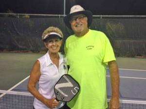 A Flight winners: Inga Loy and Gary Sell