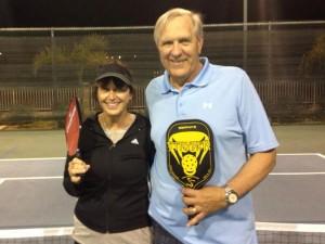 B Flight winners: Kristy Buckey, Dave Eilers