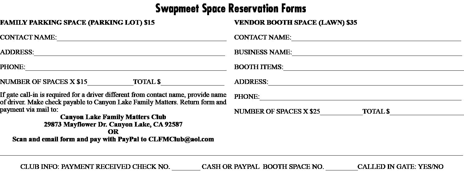 swapmeet form