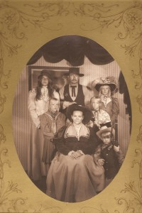 Hans and Linda love to look for photo ops when they're traveling and they've been doing that for a long time. Here's an Old West picture they had taken with their kids on a trip to Colorado.