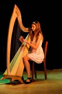 Kylene Evans played the harp