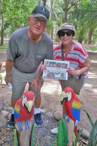 Randy and Mavis Schutz visited a macaw sanctuary in Puntarenas, Costa Rica.