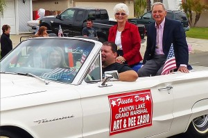 Art and Dee Zasio were grand marshal of the 2015 Fiesta Day Parade.
