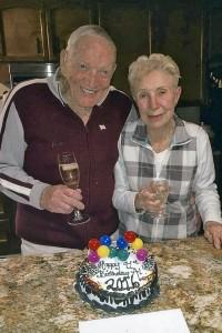 Edie helped Al celebrate his 91st birthday last December 31.