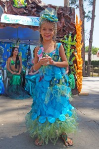 Kambria Dalton was the winner of last year's Little Mermaid Costume Contest. Photos by Donna Kupke