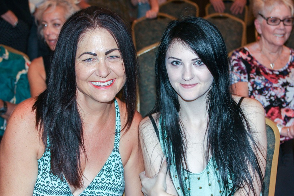 Jill and Lindsay Torkelson enjoy a mother/daughter night out during the Suzy Bogguss concert at the Lodge on July 30.