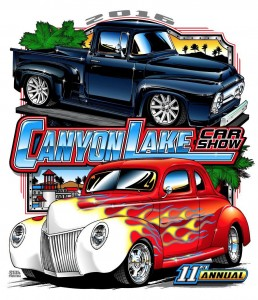 The 2006 Car Show logo features a 1956 Ford F-100 Pickup belonging to Ken and Jo Whitney and a 1939 Ford Coupe belonging to Stu and Donna Shandle.