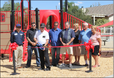 The Association gave Mike Morrow the privilege of cutting the ribbon at Outrigger Park in honor of his last day of employment with the Association.