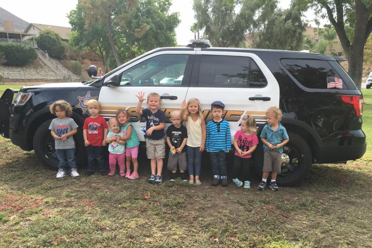 During The Police Car Meet And Greet At Sierra Park On September 21 Children Got To See Pull Up With Its Lights Flashing Siren Blaring
