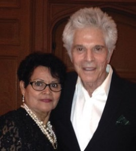 Maria poses with actor Jorge Rivero, an honoree at the Aztec Awards Gala.
