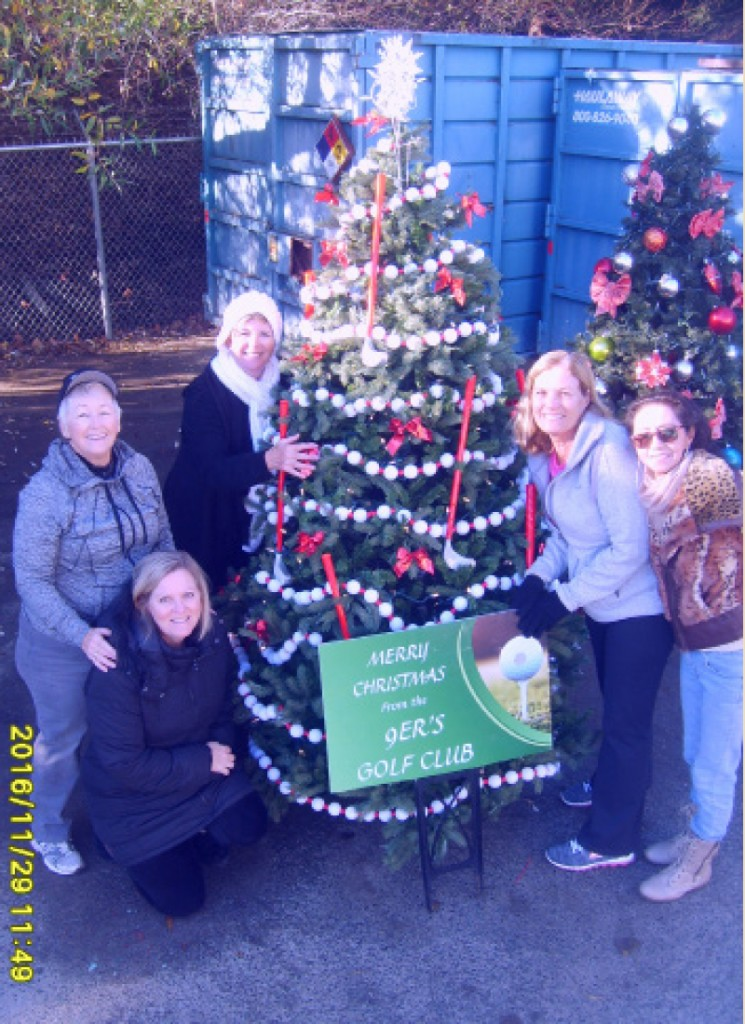 The 9er's Golf Club proudly celebrates its club Christmas Tree. The tree will be displayed on the Main Entrance median.