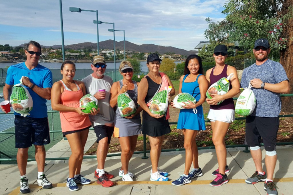 On Saturday, November 19th, the Canyon Lake Tennis Club held their Turkey Trot Team Mixer. Team A took the win and each member received a turkey. Pictured are Vern Clayton, Lucy Vogliardo Coffield, John Hodge, Loralyn Willis, Marilyn Stovall, Jully Martilla, Melissa Allbright and Tom Bol. Photos provided by Marga Kidd