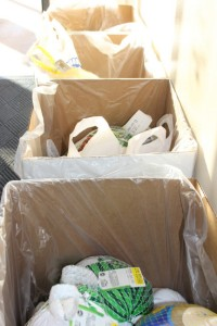 Residents donated 97 frozen turkeys and several dozen bags of fixings during the two hour food drive at City Hall on November 17.
