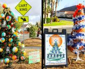 Decorate a holiday tree for the community