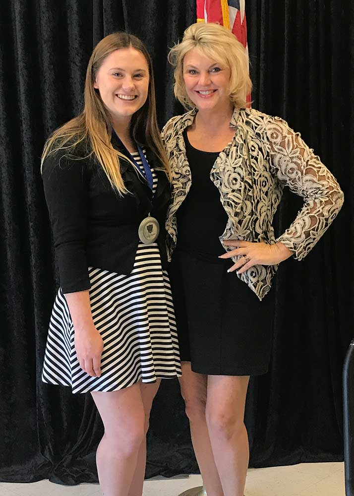 Senior Kaitlyn Basham Named Student Of The Month The
