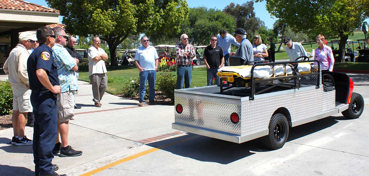 Emergency golf cart vehicle unveiled | The Friday Flyer