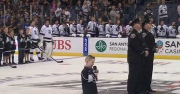 CL toddler sings National Anthem at LA Kings game