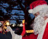 Visit Santa on his last stop in the lake